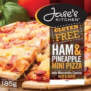 Jase's Kitchen Ham & Pineapple Mini Pizza
